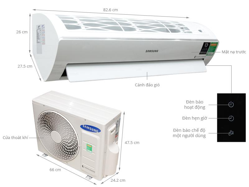 Thông số kỹ thuật Máy lạnh Samsung Inverter 1.5 HP AR12JVFSBWKNSV