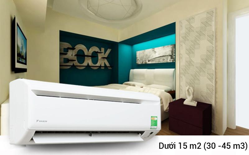Nhờ công suất làm lạnh 9300 BTU, điều hòa Daikin FTV25AXV1 có thể đảm bảo làm mát hoàn toàn những khu vực không gian có kích thước dưới 15 mét vuông