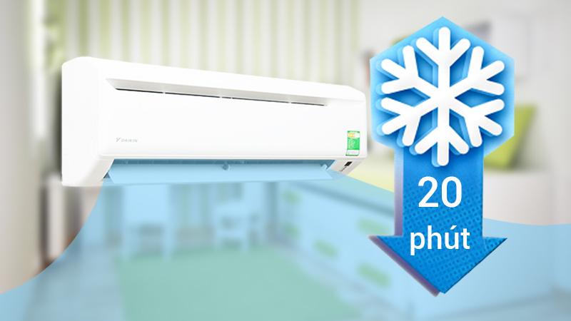 Với công nghệ làm lạnh nhanh, điều hòa Daikin 9300 BTU FTV25AXV1 giúp cho bạn nhanh chóng tận hưởng được bầu không khí mát lạnh