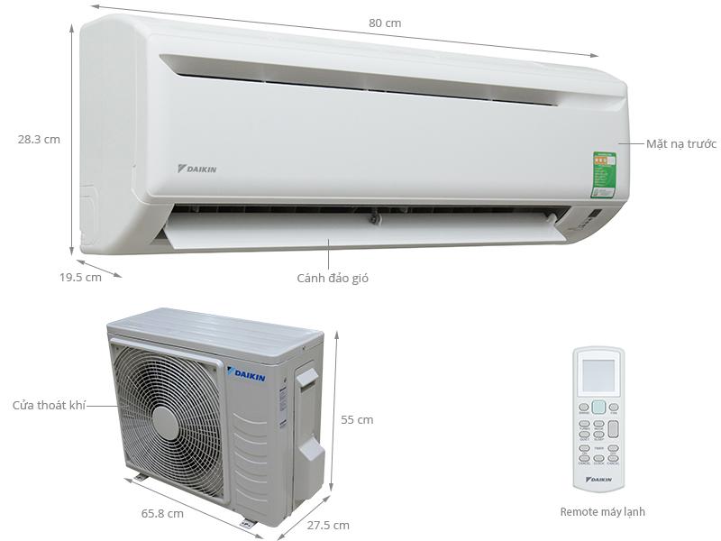 Thông số kỹ thuật Máy lạnh Daikin 1.5 HP FTV35AXV1
