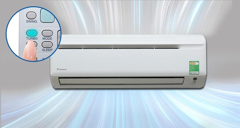 Với công nghệ làm lạnh nhanh, nhiệt độ phòng sẽ nhanh chóng được hạ thấp chỉ trong vòng 20 phút
