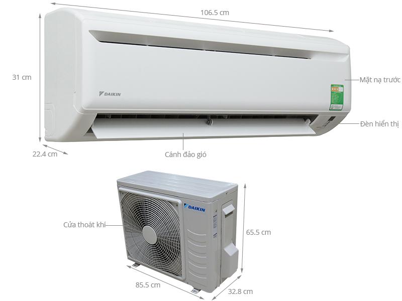 Thông số kỹ thuật Máy lạnh Daikin 2.0 HP FTV50AXV1