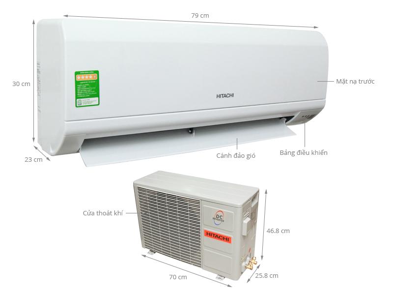 Thông số kỹ thuật Máy lạnh Hitachi 1 HP RAS-X10CD