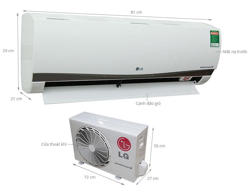 Thông số kỹ thuật Máy lạnh LG V13APM 1.5 Hp