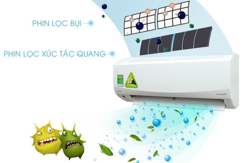 Máy lạnh Daikin FTKC25PVMV sở hữu công nghệ xúc tác quang Apatit