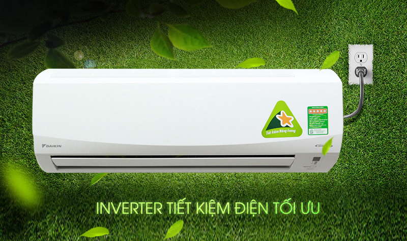 Với công nghệ Inverter tiết kiệm điện, máy lạnh Daikin FTKC25PVMV sẽ giúp gia đình bạn giảm không ít chi phí về điện năng