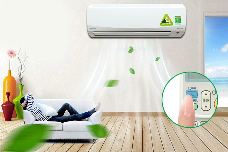 Với chế độ Econo, máy lạnh Daikin FTKC35PVMV sẽ làm lạnh tối ưu mà không vượt quá giới hạn điện năng tiêu thụ