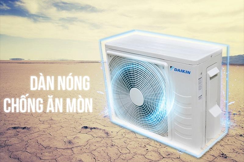 Máy lạnh Daikin FTKC35PVMV nhờ được xử lý dàn nóng chống ăn mòn nên có thể hoạt động bền bỉ