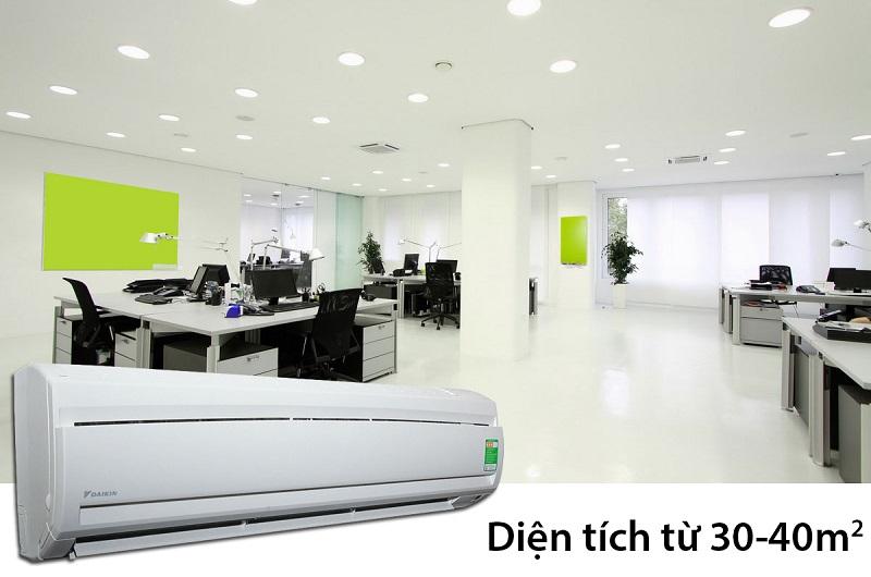 Với công suất làm lạnh lớn, lên đến 2.5 HP, gần như mọi căn phòng bạn đều có thể lắp đặt chiếc điều hòa này