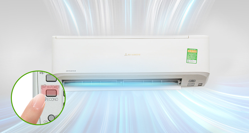 Công nghệ Hi Power của điều hòa Mitsubishi Heavy 1.0 Hp SRK09CRR-S5 giúp cho chiếc điều hòa Mitsubishi Heavy này làm lạnh nhanh chóng
