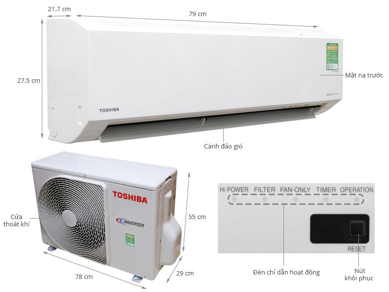 Thông số kỹ thuật Máy lạnh Toshiba 2 HP RAS-H18G2KCV-V