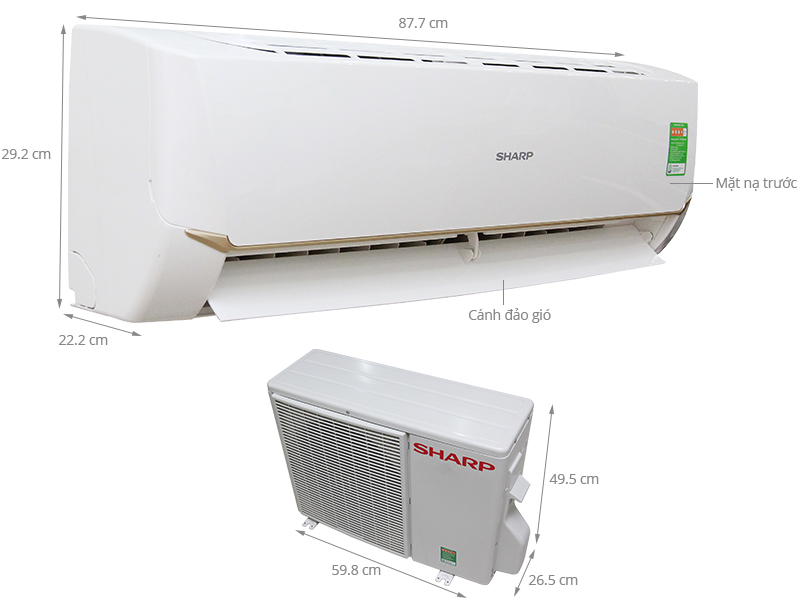 Thông số kỹ thuật Máy lạnh Sharp 1 HP AH-A9SEW