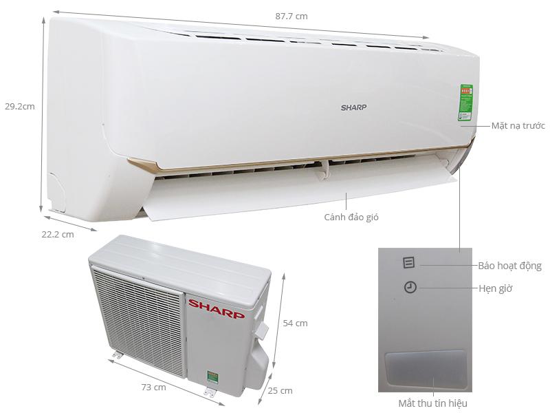 Thông số kỹ thuật Máy lạnh Sharp 1.5 HP AH-A12SEW