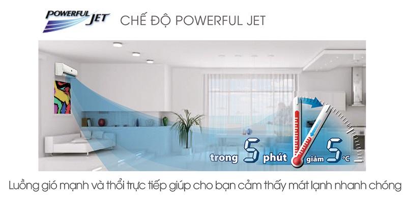 Với điều hòa Sharp 1.5 HP AH-A12SEW, công nghệ làm lạnh nhanh Powerful Jet sẽ hoạt động thật hiệu quả