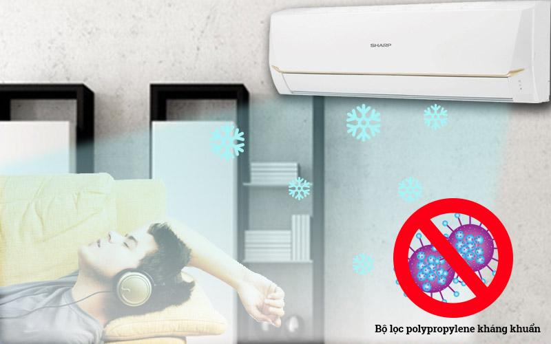 Chức năng kháng khuẩn khử mùi bằng bộ lọc polypropylene mang đến không khí trong lành