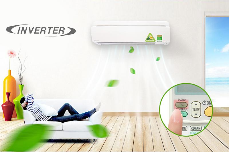 Với máy biến tần Inverter, điều hòa 2 chiều 1 HP Daikin FTXM25HVMV sẽ vừa được bổ sung khả năng làm lạnh nhanh và mạnh mẽ, vừa giúp tránh hao phí điện năng