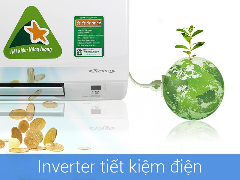 Tiết kiệm điện với máy biến tần Inverter