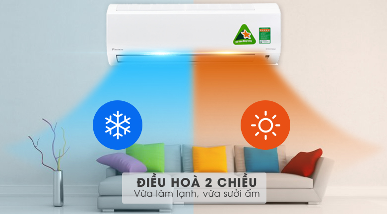 Điều hòa 2 chiều - Điều hòa 2 chiều Daikin Inverter 1.5 HP FTXM35HVMV