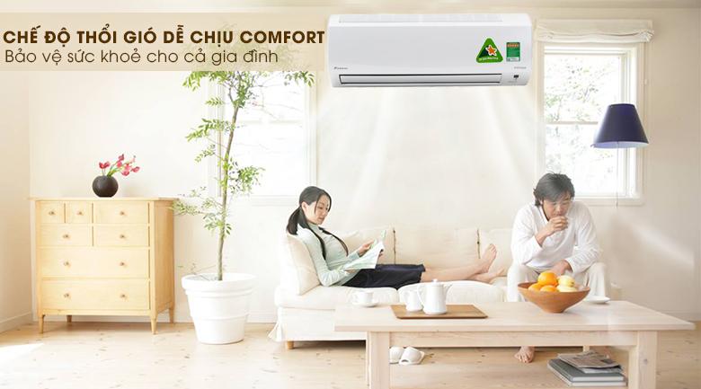 Chế độn Comfort - Điều hòa 2 chiều Daikin Inverter 1.5 HP FTXM35HVMV
