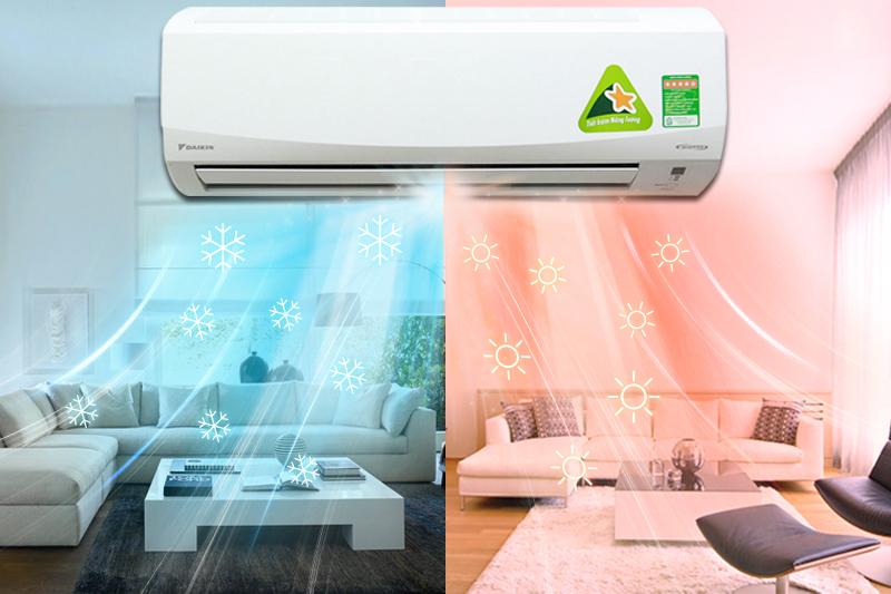 Với khả năng có thể hoạt động được cả chiều nóng và chiều lạnh của mình, điều hòa 2 chiều Daikin FTXM35HVMV sẽ giúp gia đình bạn giữ nhiệt độ phòng thích hợp hơn