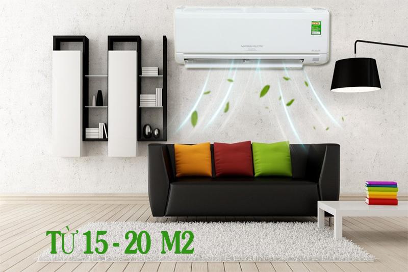 Máy lạnh tiết kiệm điện cho không gian nhỏ 15-20m2