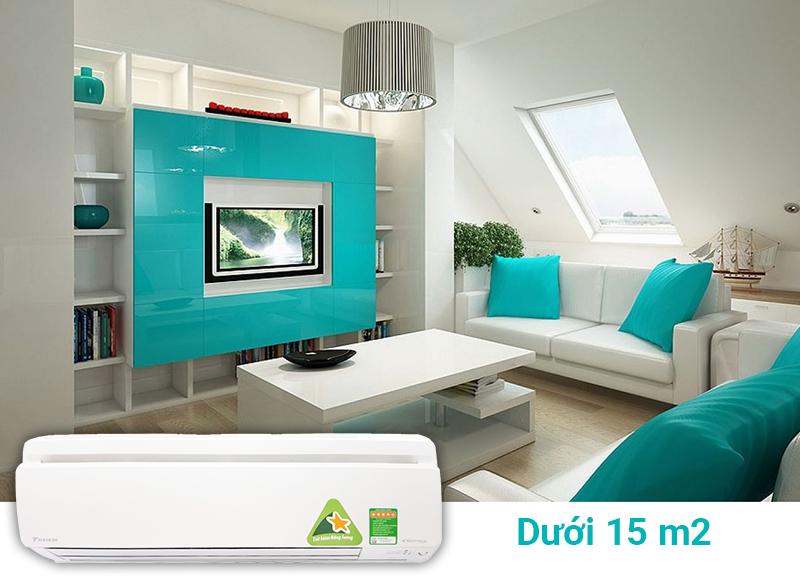 phù hợp và bảo đảm hoạt động hiệu quả ở những không gian vừa và nhỏ (dưới 15 m2)