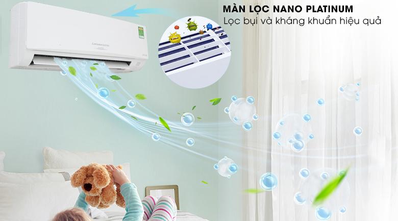 Màng lọc Nano Platinum - Máy lạnh Mitsubishi Electric Inverter 1.5 HP MSY GH13VA