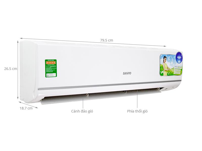 Thông số kỹ thuật Máy lạnh Sanyo 1 HP SAP-KCRV9YGS