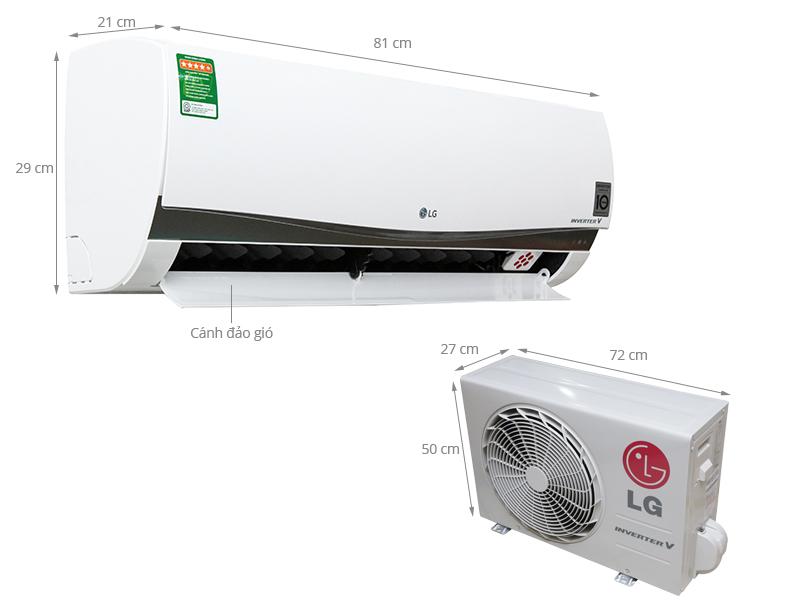 Thông số kỹ thuật Máy lạnh LG 1 HP V10APM