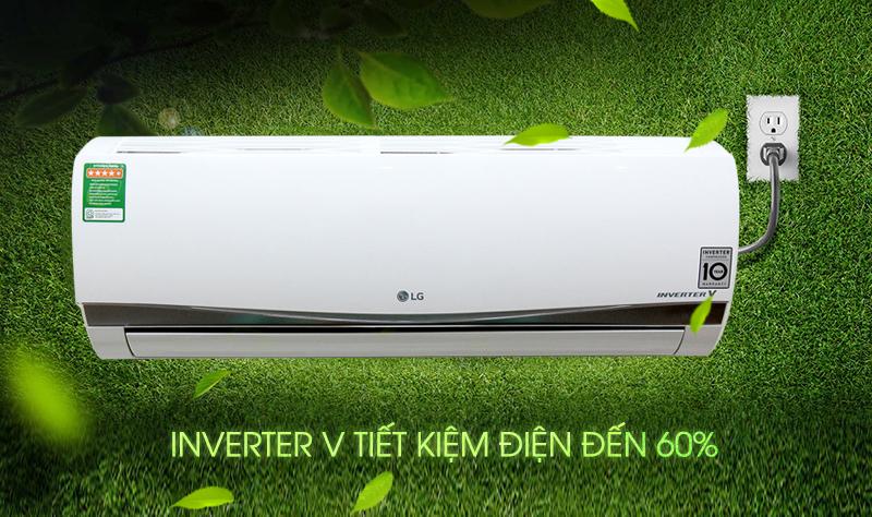 Nhờ công nghệ Inverter độc đáo, máy lạnh LG V10APSS có khả năng giúp gia đình bạn tiết kiệm không ít điện năng