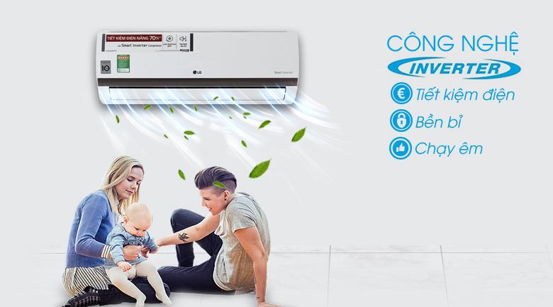 Công nghệ Inverter - Điều hòa 2 chiều LG Inverter 1 HP B10ENC
