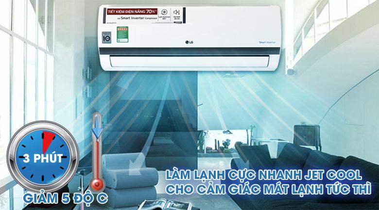 Làm lạnh nhanh Jet Cool - Điều hòa 2 chiều LG Inverter 1 HP B10ENC
