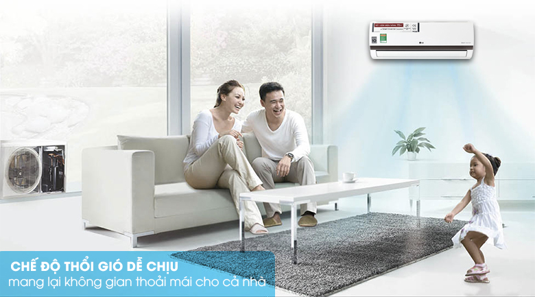 Chế độ thổi gió dễ chịu - Điều hòa 2 chiều LG Inverter 1 HP B10ENC