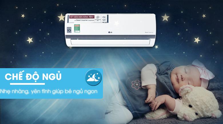 Chế độ ngủ - Điều hòa 2 chiều LG Inverter 1 HP B10ENC