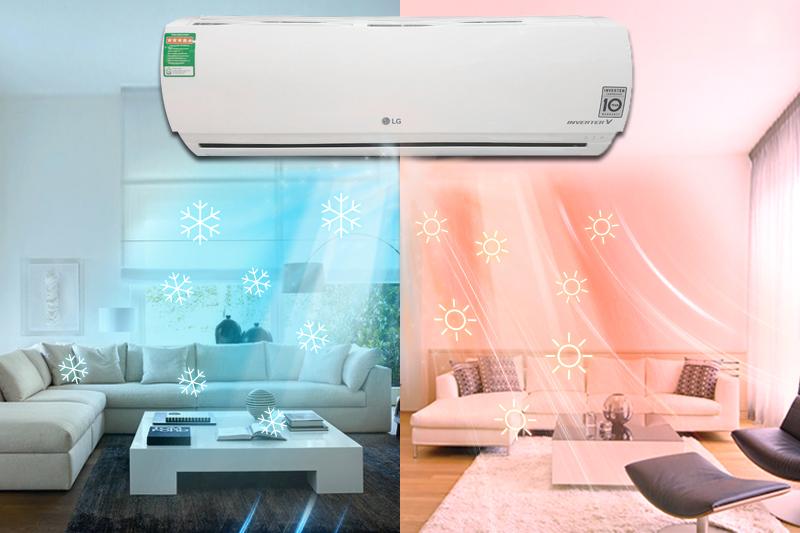 Với khả năng điều hòa 2 chiều của mình, máy điều hòa LG B10ENC sẽ điều chỉnh nhiệt độ phòng của bạn tùy theo nhiệt độ bên ngoài