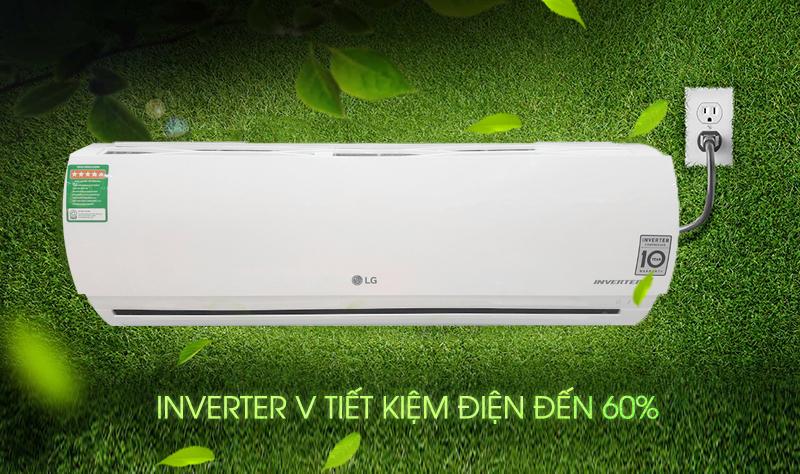 Nhờ công nghệ Inverter, máy điều hòa 2 chiều LG B10ENC không chỉ hạn chế sự lãng phí điện năng