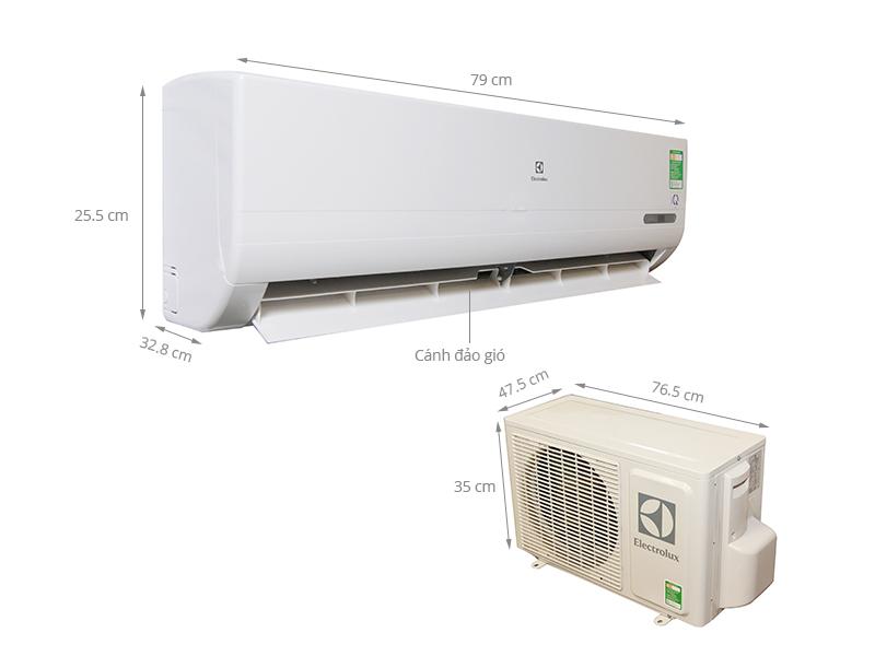 Thông số kỹ thuật Điều hòa 2 chiều Electrolux 1 HP ESM09HRF-D2