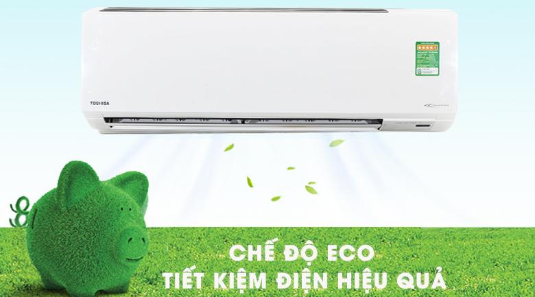 Chế độ Eco tiết kiệm điện - Điều hòa 2 chiều Toshiba Inverter 1 HP RAS-H10S3KV-V
