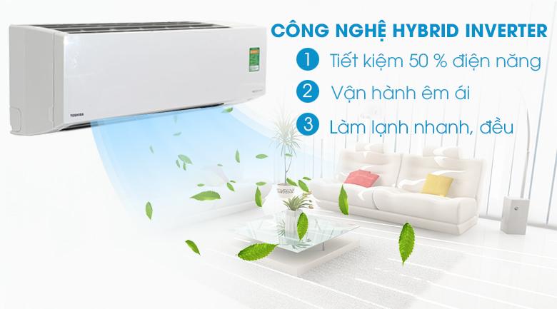 Công nghệ Hybrid Inverter - Điều hòa 2 chiều Toshiba Inverter 1 HP RAS-H10S3KV-V