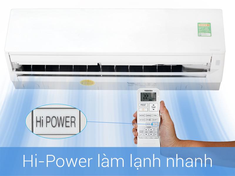 Làm lạnh nhanh chóng với công nghệ HI Power