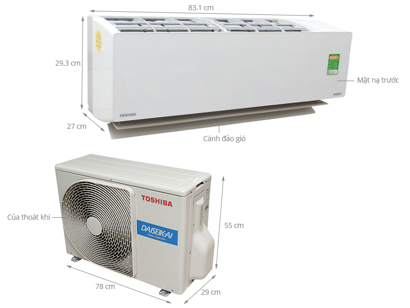 Thông số kỹ thuật Máy lạnh Toshiba 1 HP RAS-H10G2KCVP-V