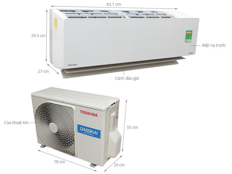 Thông số kỹ thuật Máy lạnh Toshiba 1.5 HP RAS-H13G2KCVP-V