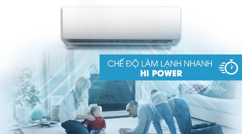 Làm lạnh nhanh - Máy lạnh Toshiba Inverter 2 HP RAS-H18G2KCVP-V