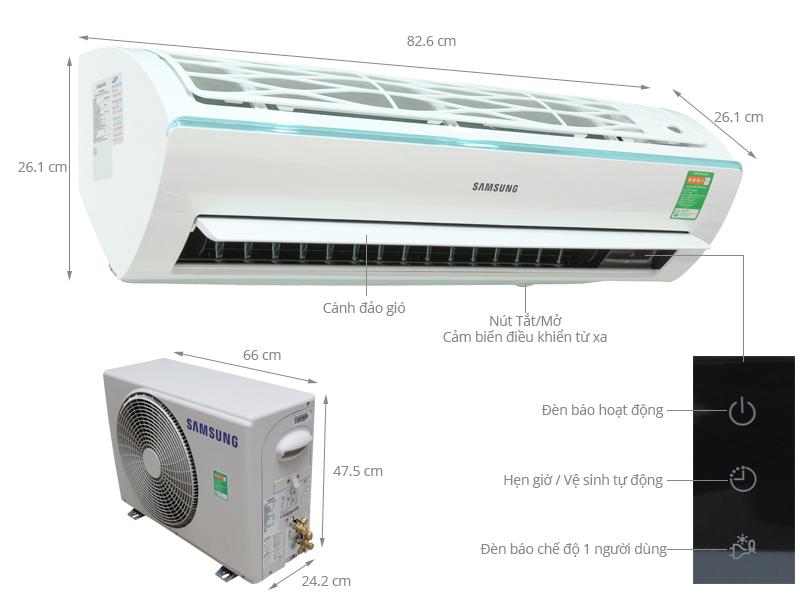 Thông số kỹ thuật Máy lạnh Samsung 1 HP AR09KCFSSURNSV