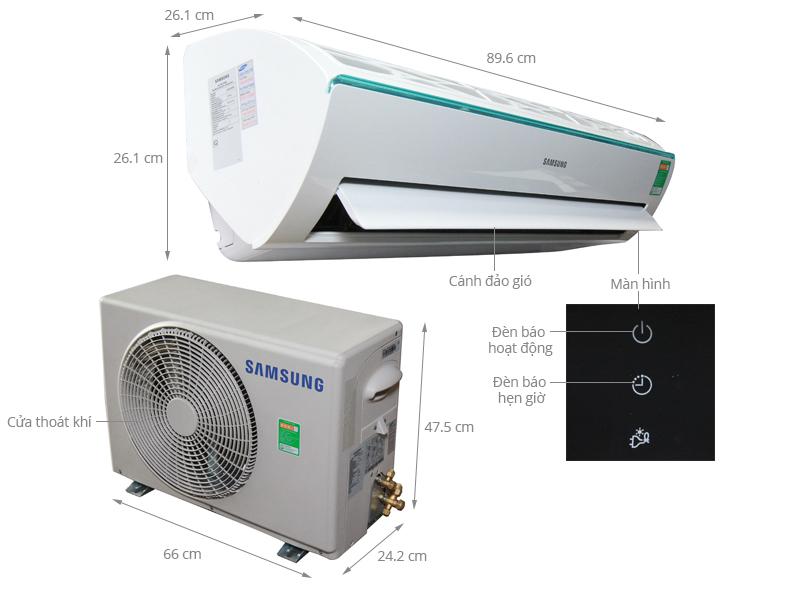 Thông số kỹ thuật Máy lạnh Samsung 1.5 HP AR12KCFSSURNSV