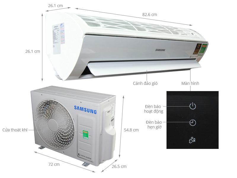 Thông số kỹ thuật Máy lạnh Samsung 1 HP AR10KVFSBWKNSV