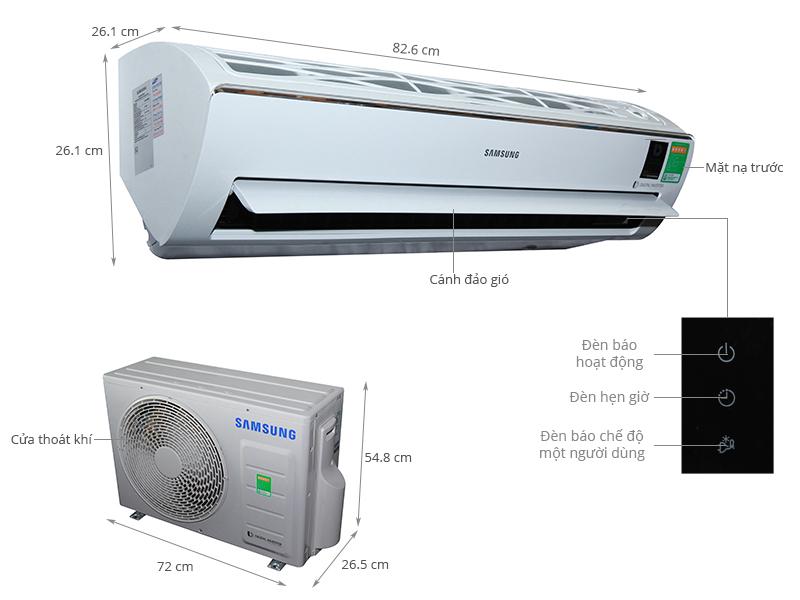 Thông số kỹ thuật Máy lạnh Samsung 1.5 HP AR13KVFSBWKNSV