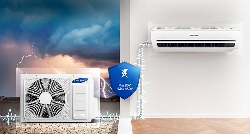 Bảo vệ ổn áp và tự điều chỉnh khi hiệu điện thế tăng đột ngột.