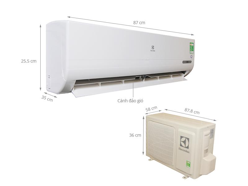 Thông số kỹ thuật Điều hòa 2 chiều Electrolux 1.5 HP ESM12HRF-D1