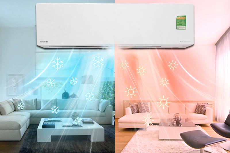 2 chế độ sưởi ấm và làm lạnh trong cùng một sản phẩm